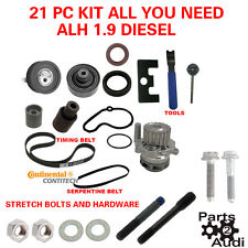 1.9 ALH TDI DIESEL VW JETTA TIMING BELT KIT WATER PUMP TOOLS OE BOLTS STUDS ETC