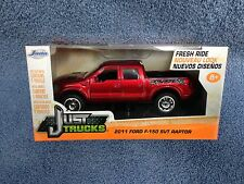JADA JUST TRUCKS 1:32 SCALE RED 2011 FORD F-150 RAPTOR PICKUP DIE-CAST NEW