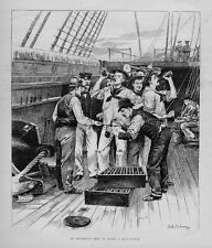 AN OCCASIONAL GROG FOR SAILORS ON BOARD A MAN-OF-WAR DRINKING LIQUOR ALCOHOL