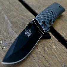 "8"" CARBON FIBER Tactical Combat SPRING ASSISTED OPEN Folding Pocket KNIFE"