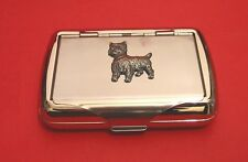 West Highland Terrier Tobacco Tin Trinket Box Westie Christmas Gift