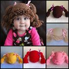 Newborn-Large BABY GIRLS BEANIE Hat CROCHET Cabbage Patch Kid PHOTO PROP