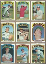 1972 72 Topps YOU PICK SINGLES FROM #1-525 ALL HIGH GRADE NEAR MINT OR BETTER