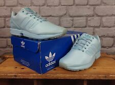 ADIDAS MENS UK 5 EU 38 MONOCHROME LIGHT BLUE ZX FLUX TRAINERS RRP £70