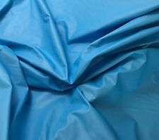 Turquoise Blue - Faux LEATHER Fabric - 1/4 yd remnant