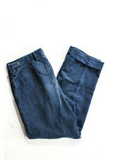 BOTTEGA VENETA Men's Blue Cotton Flat Front Straight Leg Corduroy Pants Sz 52