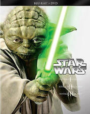 Star Wars Prequel Trilogy I II III 1 2 3 Blu-ray/DVD 2013 6-Disc Starwars