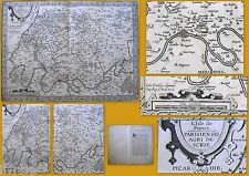 CARTE GEOGRAPHIQUE GUILLOTIERE ISLE DE FRANCE PARIS XVIEME SIECLE TOPOGRAPHIE