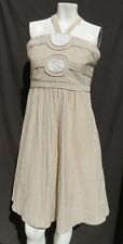 BCBG Girls Beige Rayon Nylon Adjustable Straps Summer Dress size M