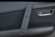 BLACK STITCHING FITS MAZDA 6 2008-2012 FRONT 1 X DOOR HANDLE LEATHER COVER