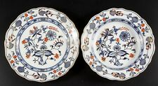 """GERMAN MEISSEN """"BLUE ONION"""" STYLE PORCELAIN PLATE AND DISH Lot 805"""