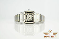 Cartier Santos Stahl / Gold Armbanduhr Watch