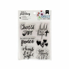 American Crafts BIBLE JOURNALING CLEAR STAMPS   CHOOSE JOY,  HOLD ON TO HOPE