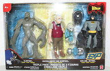 NEW ZIPLINE BATMAN ACTION FIGURE TRIPLE PACK CLAYFACE VENTRILOQUIST SCARFACE TOY