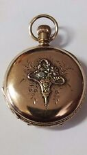 "Gorgeous size 6 Multi Color ""Rose, Green, Yellow and White"" pocket watch case!!!"
