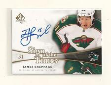 2011-12 SP Authentic Hockey Sign of The Times James Sheppard Autograph