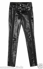 New VERSACE Stretch Denim Jeans With Vinyl Finish