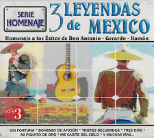 CD - 3 Leyendas De Mexico NEW Don Antonio Gerardo & Ramon FAST SHIPPING !