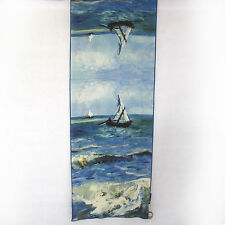 NEW NWT Cocoon House Wearable Art The Sea Sailboats 100% Silk Hand Painted Scarf