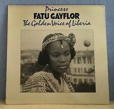 PRINCESS FATU GAYFLOR The Golden Voice Of Liberia  vinyl  LP EXCELLENT CONDITION