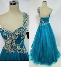 NWT Glamour by TERANI Couture Turquoise $300 Prom Gown 2