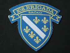 Bosnia army, 108. Brigade - Brcko patch; six Lilies, military, war