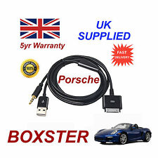PORSCHE BOXSTER CDR-31 Audio System iPhone 3GS 4 4S iPod USB & Aux Cable black