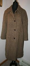 VTG Women's Bobby Jean Tweed Trench Coat Jacket Chicago MED (10-12) Tan/Black
