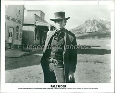 1985 Actor Clint Eastwood Stands in Small Town Original News Service Photo