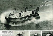 Coupure de Presse Clipping 1968 (2 pages) Bateau Hovercraft Seaspeed