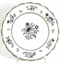 SET(S) 6 ANTIQUE BOOTH'S CHINA PATTERN A8086 SCALLOPED BREAD PLATES GOLD BLUE