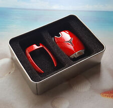 Mercedes Benz Remote Smart Key FOB Rose Red Case Cover Case Skin Shell Cap
