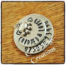 Hand Stamped Personalised Dog Tag Any Wording Any Name / Number Pet Supplies