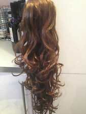 "CLIP IN DRAWSTRING WAVY CURLY 24"" LONG PONY TAIL HAIR EXTENSIONS HAIR PIECE  A"