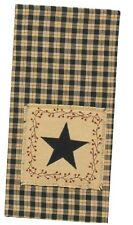 Country Primitive Star Patch Hand Dish Tea Towel Rustic Farmhouse Kitchen Decor