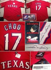 SALE Authentic auto SHIN-SOO CHOO signed Texas Rangers XL Majestic jersey PROOF