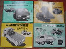 DAIHATSU Delta Volquete Camión Camión Grúa & Conjunto de Folleto De Venta 4 y mediados años 70?