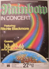 RAINBOW DEF LEPPARD CONCERT TOUR POSTER 1981 DIFFICULT TO CURE RITCHIE BLACKMORE