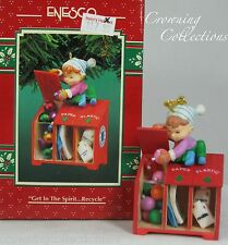 Enesco Get in The Spirit Recycle Treasury of Christmas Ornament Green Earth Elf