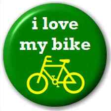 Small 25mm Lapel Pin Button Badge Novelty I Love My Bike