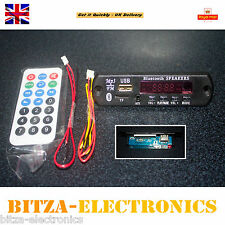 12V MP3 WMA Decoder Board Wireless Bluetooth Audio Module USB TF Radio