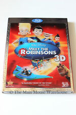 Disney Meet The Robinsons Animated Movie Blu-ray 2D 3D DVD Bonus Features Galore