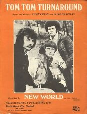 "NEW WORLD  Rare 1971 Aust Only OOP Original Pop Sheet Music ""Tom Tom Turnaround"""