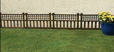 4x Bronze effect fence panels Edging Panels Decorative Outdoor Patio Fencing