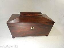 Antique Rosewood Tea Caddy Box     ref 2900
