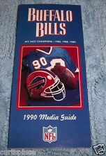 NFL BUFFALO BILLS 1990 Media Guide, Illustrated, Free Shipping Included! NICE!