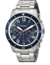 Fossil Mens FS5238 Grant Sport Chronograph Stainless Steel Watch