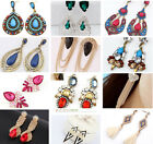 New 1 Pair Elegant Women Vintage Style Fashion Rhinestone Dangle Stud Earrings