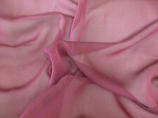 5 metres Plain Cerise/Magenta Pink Cationic Chiffon Fabric. (Special offer)