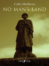 No Mans Land Male Singer Choir Choral Orchestra Score Voice FABER Music BOOK